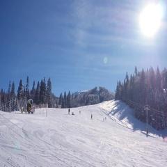 Ski resort in winter Stock Footage