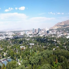 Salt Lake City Aerial view mountains Stock Footage