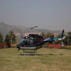 Shot of a Helicopter. Stock Footage