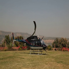 Helicopter in India Stock Footage