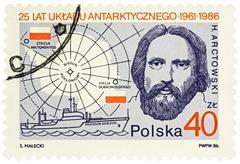 Portrait of Polish explorer Henryk Arctowski Stock Photos