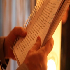 Close up of Script and files Stock Footage
