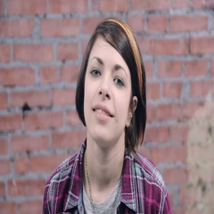 Young girl depict gladness, sadness, fright in camera. Casting. Brick wall Stock Footage