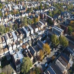 Neighborhood houses bridgeport Stock Footage