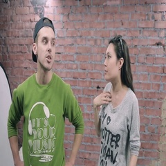 Young boy depict quarrel with girl in grey pullover. Actor casting. Apologies Stock Footage