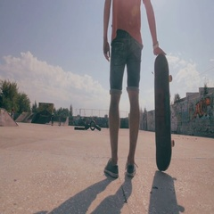 Skateboard fails. Skateboarder skateboarding and falling down doing tricks in a Stock Footage