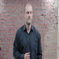 Adult man with closed eyes concentrate on thoughts on camera. Audition. Actor Stock Footage