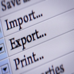 Export button. Looping. My own design of program menu. Stock Footage