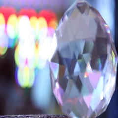 Diamond Crystal closeup Stock Footage