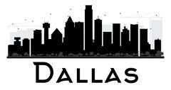 Dallas silhouette Stock Illustration
