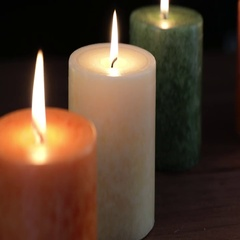 Burning Candles with Focus Pull Stock Footage