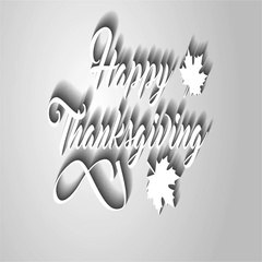 4K Thanksgiving greeting card with Happy Thanksgiving lettering text. Ifinity Stock Footage