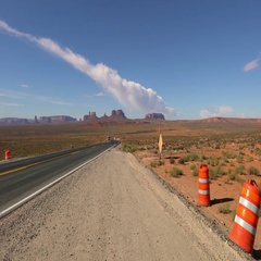 Monument Valley Driving Plate 01 4K Stock Footage