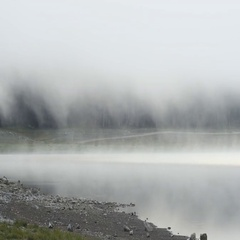 Beautiful mystical Black Lake, Durmitor National Park. Montenegro Stock Footage