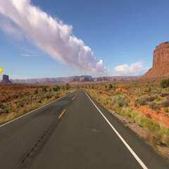 Monument Valley Driving Plate 14 4K Stock Footage