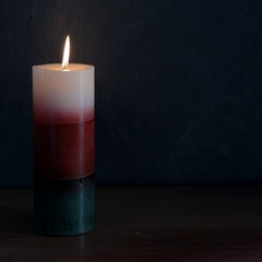 Red Green and White Candle Stock Footage
