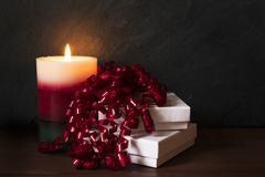 Seasonal Christmas candles 002 Stock Photos
