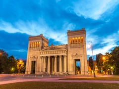 Time-lapse video of Königsplatz (King's Square) in Munich Stock Footage