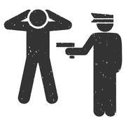 Arrest Icon Rubber Stamp Stock Illustration
