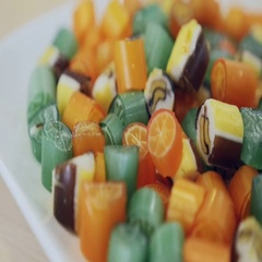 Caramel sweets and candies Stock Footage