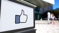 Street signage board with Facebook like button thumb up Piirros