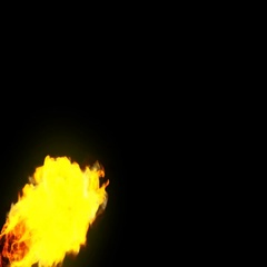 Created with Fume Fx , Fire started background footage with alpha mask Stock Footage