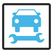 Car Repair Framed Glyph Icon Stock Illustration