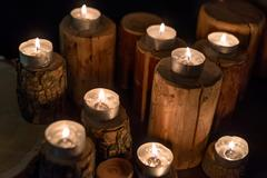 Abstract candles background Stock Photos