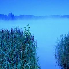 Sunrise on the lake Moiseevskoe, Valdaysky district, Novgorod region, Russia.  Stock Footage