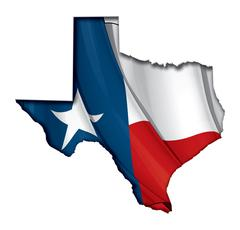 Texas Map-Flag Piirros