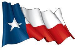 Texas Waving Flag Piirros
