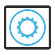 Gear Framed Glyph Icon Stock Illustration