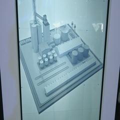 SOCHI, RUSSIA - :4D simulator of flight in congress hall at Stock Footage