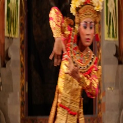 Balinese Dancer Performing Traditional Legong Dance in Bali, Indonesia Stock Footage