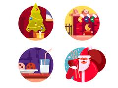 Happy Christmas holiday Stock Illustration
