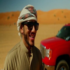Close up shot of Arab man wearing sunglasses. Stock Footage