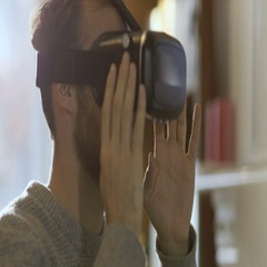 Virtual Reality Headset Stock Footage