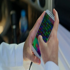 Close up shot of Arab man playing game on mobile. Stock Footage