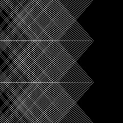 Seamless graphic background with geometric pattern on black (FULL HD) Stock Footage