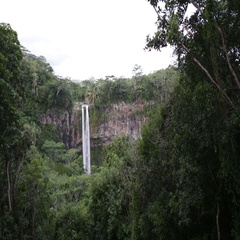 Chamarel falls in Mauritius Stock Footage
