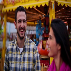Couple enjoying at funfair, Dubai, United Arab Emirates. Stock Footage