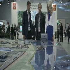 SOCHI, RUSSIA -  :Business meeting. Russian businesswomen Stock Footage