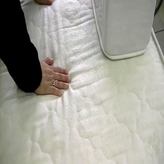 Choosing an orthopedic mattress before you buy Stock Footage