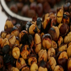 Roasted nuts. Stock Footage