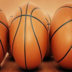 Orange basket ball. 3d rendering Stock Footage