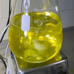 Laboratory glassware on a stirrer Stock Footage