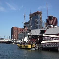 Boston Tea Party site & museum, Boston, MA. Stock Footage