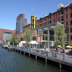 Boston Children's Museum in Boston, MA. Stock Footage