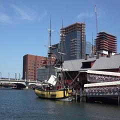 Boston Tea Part ship and Museum, Boston Harbor, Boston, MA. Stock Footage