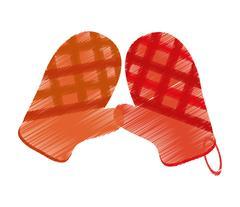 Isolated kitchen gloves design Stock Illustration